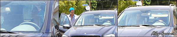 10 Juillet 2012 : Miley quittant son cours de pilates avec un nouveau tatouage à West Hollywood.