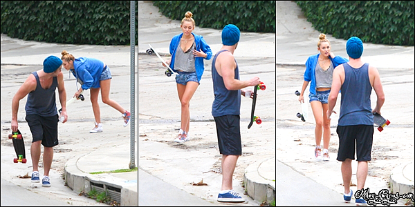 12 Juillet 2012 : Miley quittant son cours de pilates dans West Hollywood,CA.