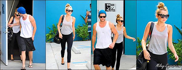 13 Juillet 2012 : Miley & Liam quittant leurs cours de pilates dans West Hollywood,CA.