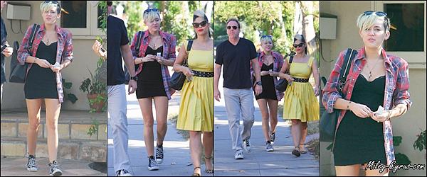 06.11.2012 : Miley arrive à un bureau de vote pour l'élection USA à LA.