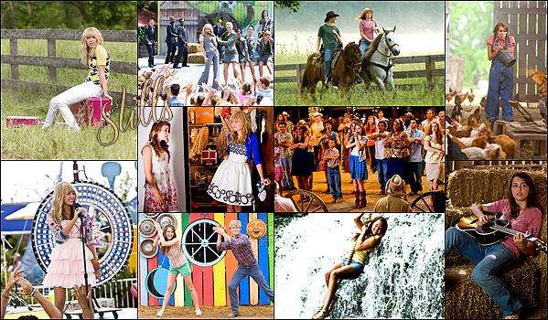 FILM   Hannah Montana: The Movie (2009).Synopsis : Hannah Montana et Miley Stewart ne font qu'une. La première est une star blonde de la musique pop, idole des jeunes. La seconde est une brunette anonyme, qui a les deux pieds sur terre. Enfin, plus tout à fait. Le succès de son alter ego lui est monté à la tête. C'est pourquoi le père de Miley kidnappe cette dernière pour la ramener passer deux semaines sur la ferme familiale du Tennessee, coupée du monde et du glamour. Au bout de quelques jours de résistance, Miley se laisse gagner par la chaleur de sa grand-mère, les beaux yeux d'un garçon de ferme et le sort d'un pré avoisinant, menacé par la construction d'un centre commercial. Une kermesse est organisée pour financer la lutte des opposants au projet, et pour assurer son succès, on demande à Hannah Montana de venir chanter. BANDE D'ANNONCE & BO du Film