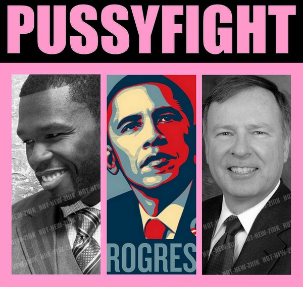 Pussyfight : 50 cent défend Obama qui subit des insultes racistes