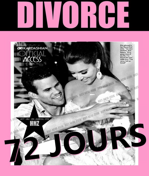 Kim Kardashian  : 18 Millions $ pour 72 jours de Marriage