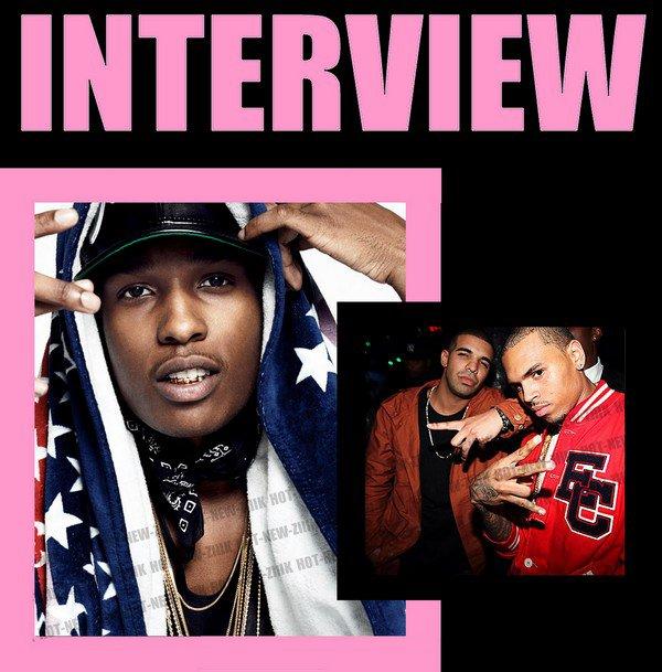 A$AP Rocky parle de Chris vs Drake