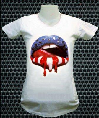T-shirt femme la bouche