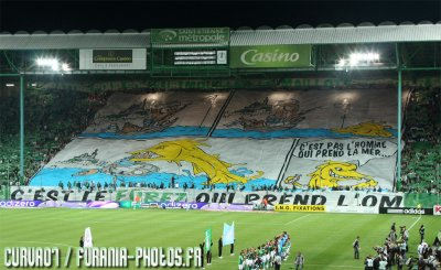 Tifo Green Angels Contre Marseille !