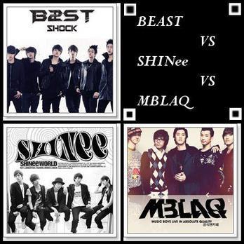 BEAST VS SHINee VS MBLAQ