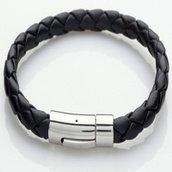 Bracelet Homme En Cuir Et Acier 32