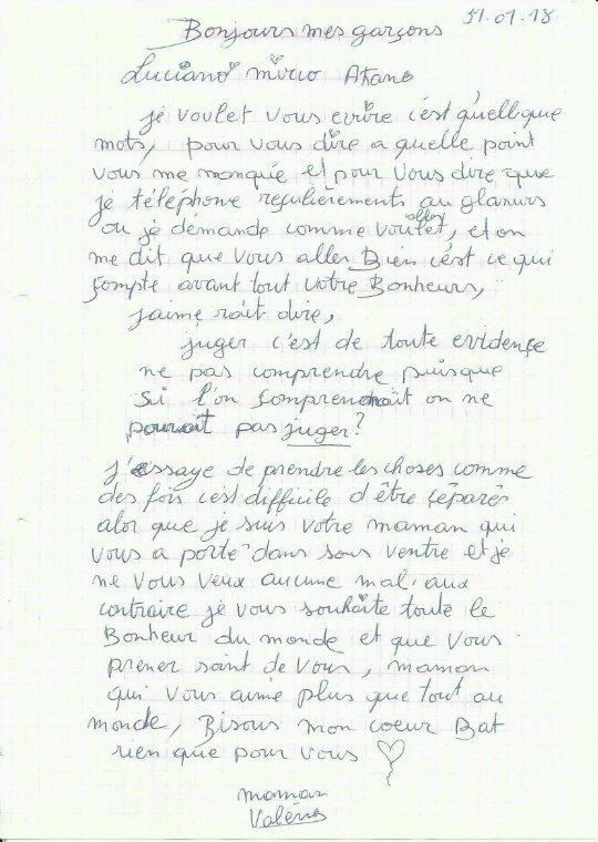 À se jours j ai jamis reçus de nouvelle de toute les lettre que je écrit à mes garçons placé abusifsm'en par le Spj de mons sons même donné 1 motif?