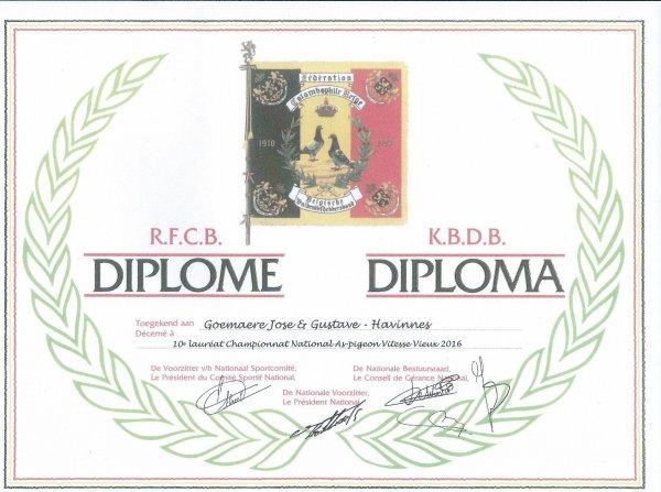 DIPLÔME AS ET CHAMPIONNAT NATIONAL
