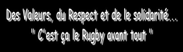 Les Trois Valeurs du Rugby à appliquer ♥