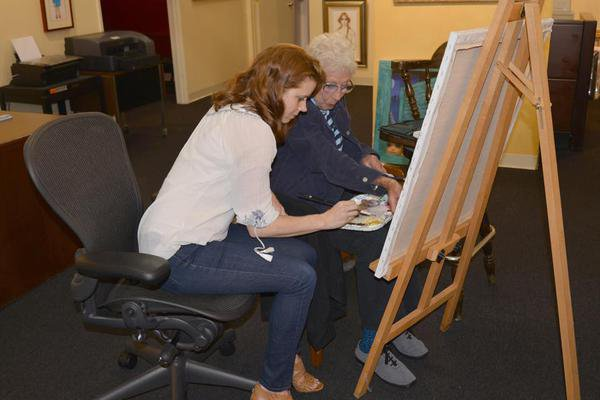 Deux photos de Margaret Keane & Amy Adams
