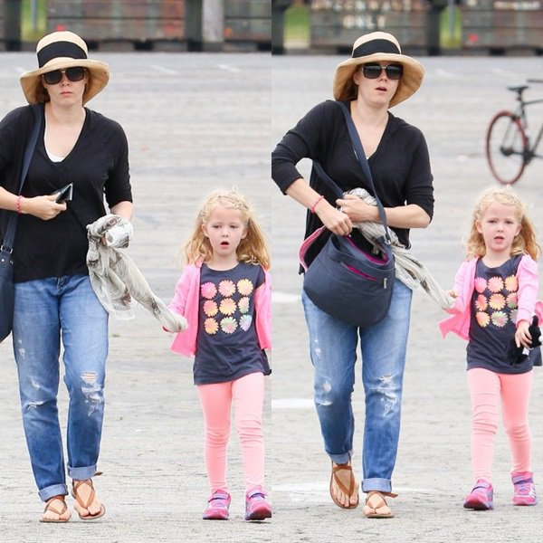 12 mai 2015 | Amy et sa petite famille au zoo de Los Angeles