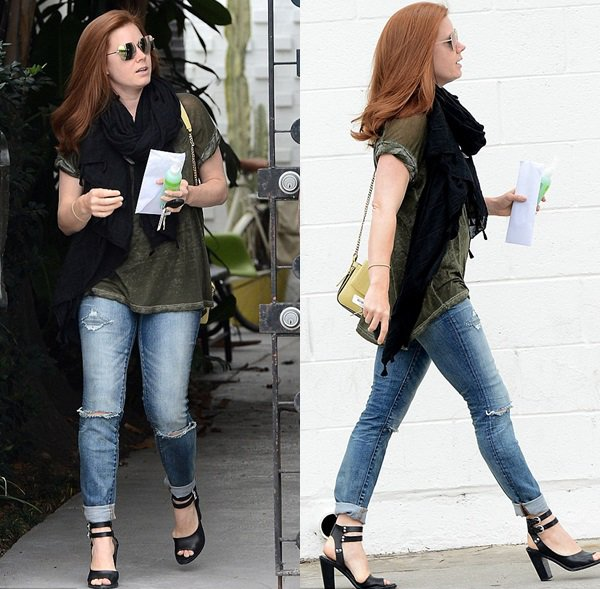 26 mai 2015 | Amy sortant d'un salon de coiffure à Beverly Hills