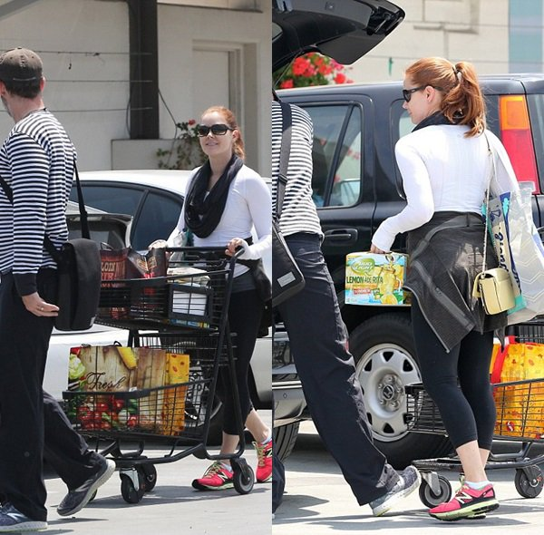 29 Mai 2015 | Amy et Darren sortant d'un supermarché à West Hollywood