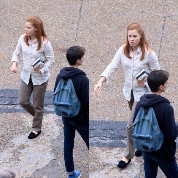 9 Mai 2015 | Amy sur le tournage de Story of Your Life à Montréal