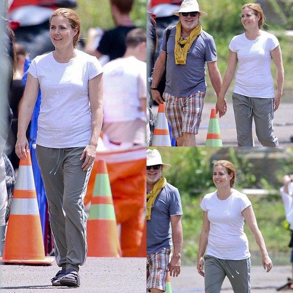 20 Juillet 2015 | Amy sur le tournage de Story of Your Life à Montréal