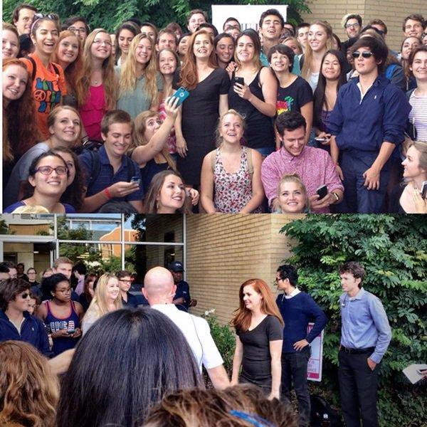14 Octobre 2015 | Amy donnant une conférence à des étudiants de la LMU Hollywood Masters Series à Los Angeles