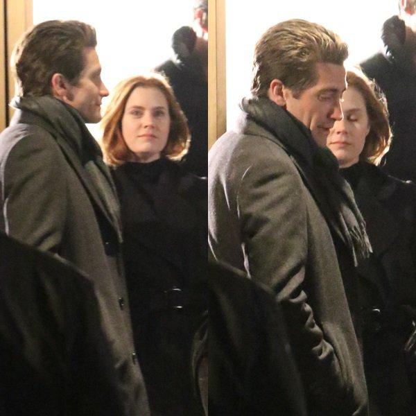 Toujours sur le tournage de Nocturnal Animals avec Jake Gyllenhaal à Beverly Hills