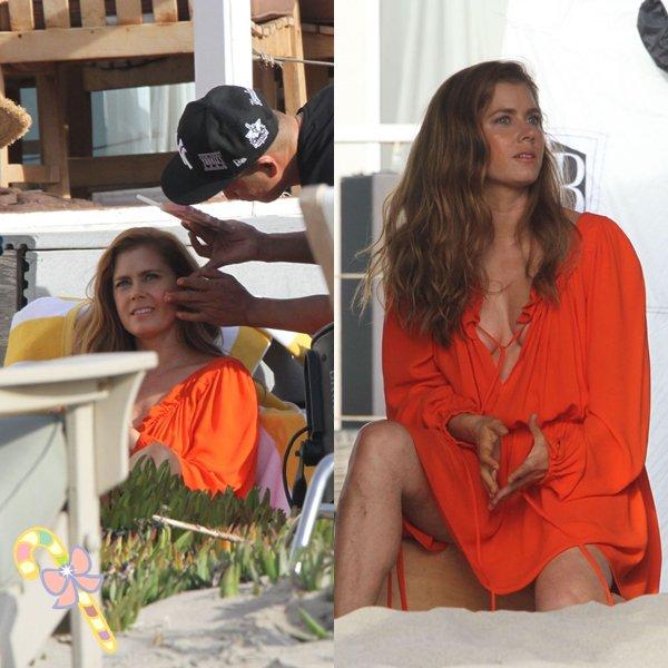 9 Décembre 2015 | Amy sur le tournage d'un photoshoot à Santa Monica (sous le soleil ^^)