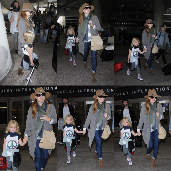 19 Mai 2016 | Amy et sa famille à l'aéroport de Los Angeles (LAX)