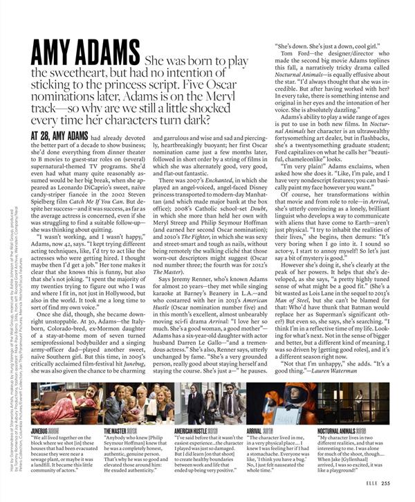 Scans du magazine ELLE US de Novembre 2016