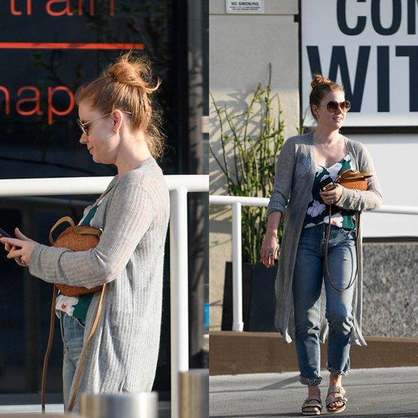 22 Octobre 2018 | Amy en shopping avec son mari et sa fille à Los Angeles
