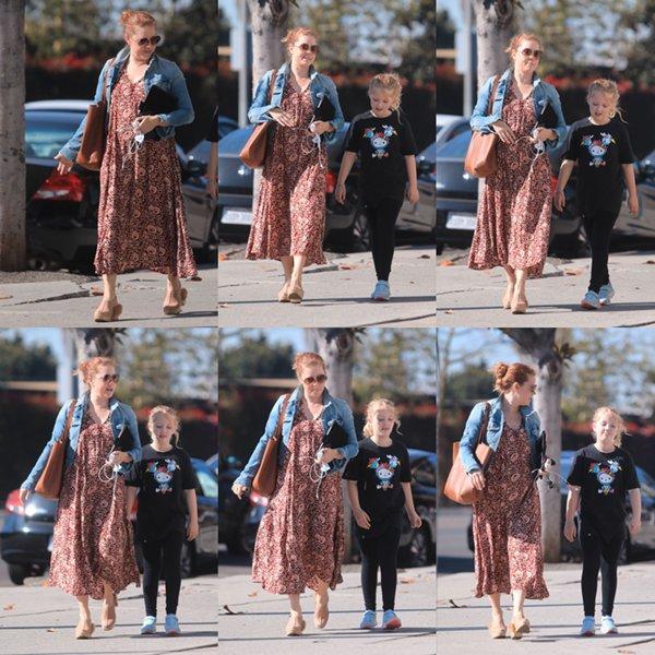 3 Novembre 2019│Amy avec sa fille à West Hollywood