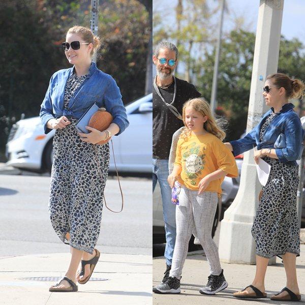 25 Fevrier 2020   Amy Adams en famille à Los Angeles.