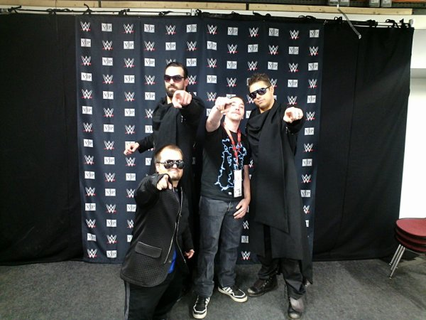 Moi,The Miz, Damien Sandow et Hornswoggle