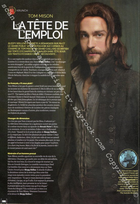 Hey si on parlais de Sleepy Hollow! :)