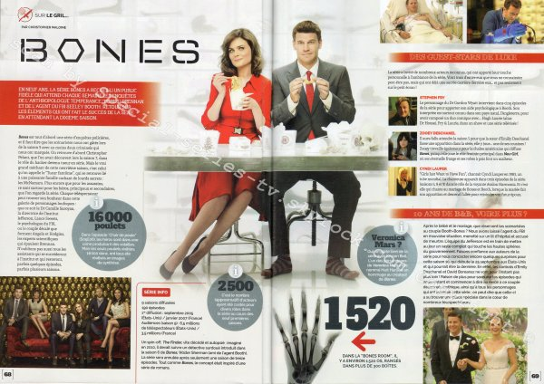Scans d'articles sur trois de mes séries favorites!