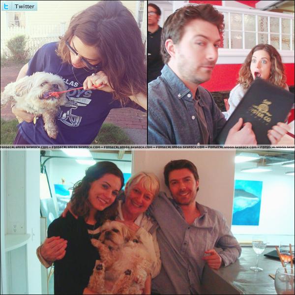 .Voici plusieurs photos de Lyndsy postées sur twitter ces derniers jours. .