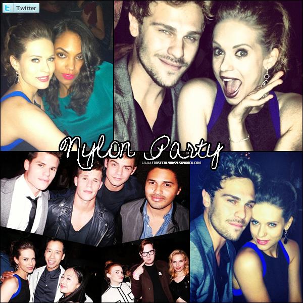 """.14/05/13 : Lyndsy était au """"Nylon Annual Young Hollywood Issue Party"""" qui avait lieu à l'hôtel Roosevelt.  ."""