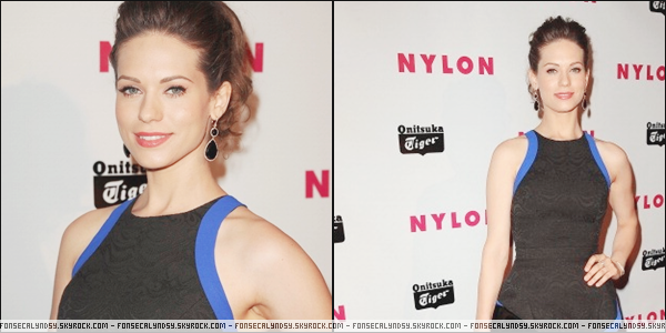 ".14/05/13 : Lyndsy était au ""Nylon Annual Young Hollywood Issue Party"" qui avait lieu à l'hôtel Roosevelt.  ."