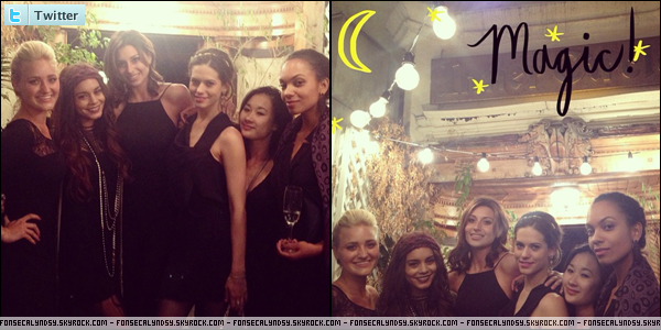 .Photos de Lyndsy venant de twitter avec Vanessa Hudgens, Lyndie Greenwood & Aly & Aj Michalka à magic castle. .