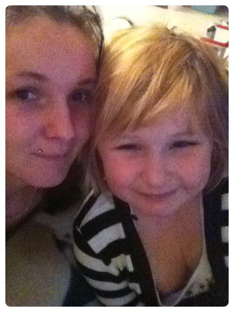 Moi et ma fille Kimberley.