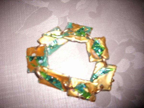 bracelet reversible or et jade.