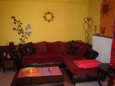 Salon aux couleurs chaudes d co - Deco salon couleur chaude ...