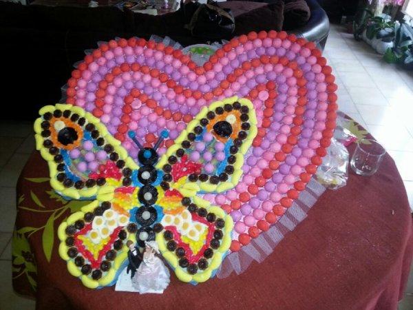 Papillon sur coeur