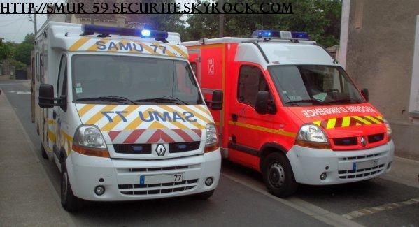 S A M U 77 avec les pompier