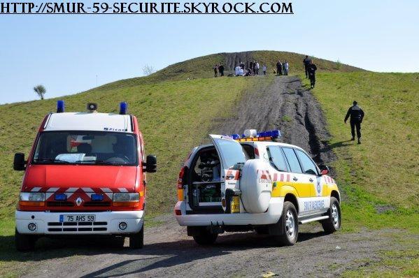 SMUR de valenciennes avec les pompier + Police Nationale