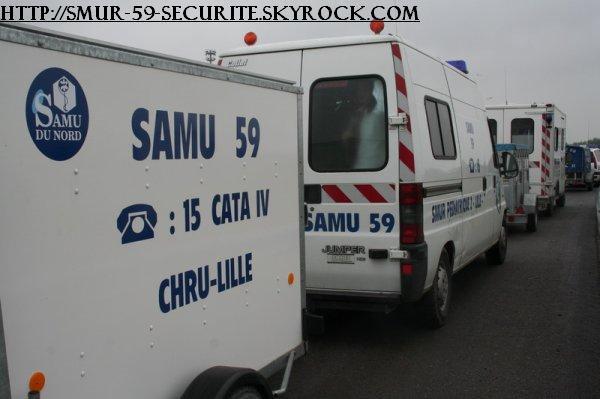 camion du SAMU 59 de lille
