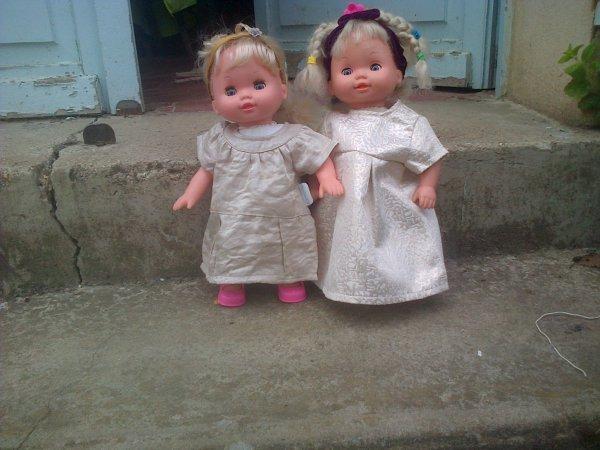 Cathie et Ella à la campagne.