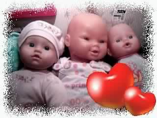 Photos de trois petits amours.
