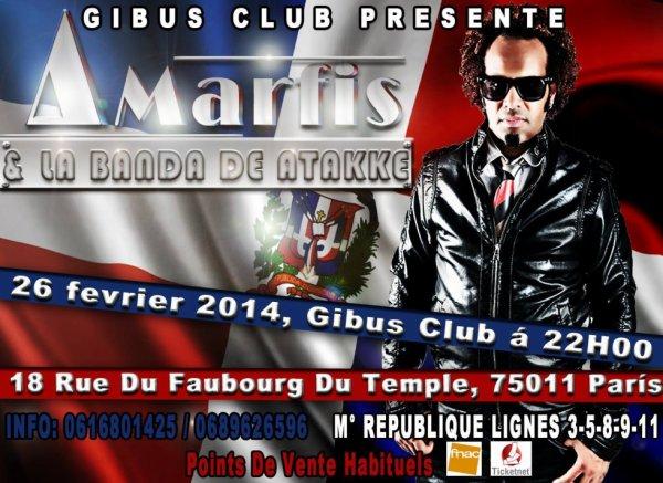26 Fevrier 2014 - Concert Amarfis y la banda de atakke - Accueil www.zone-concerts.com
