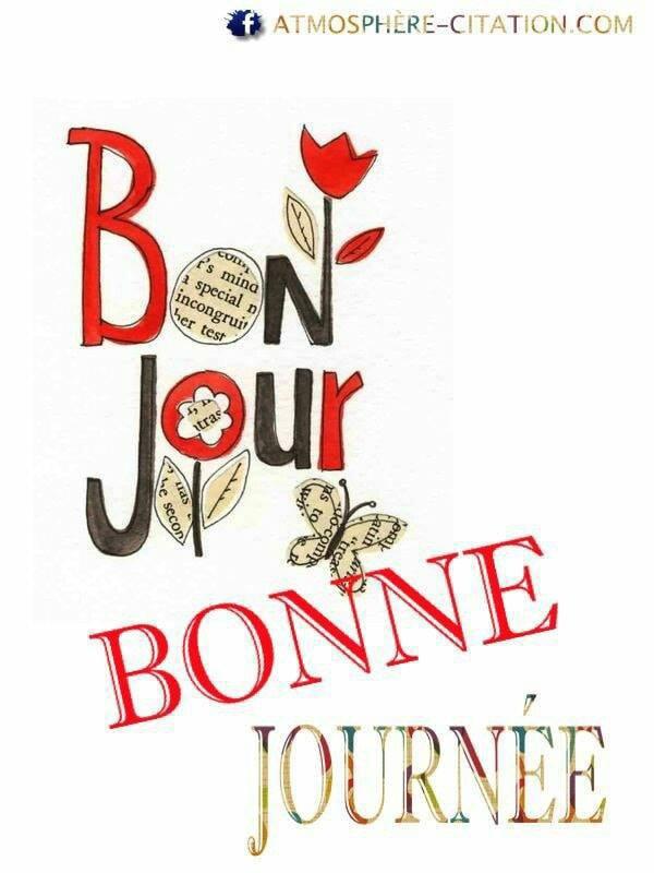 B ONJOUR  BONNE  JOURNEE  BISOUS