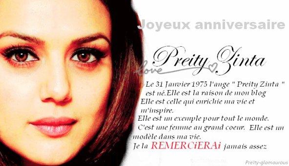 31 Janvier 1975 ce fameux jour où Preity est née. 37 ans qu'un ange est né