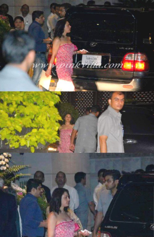 Preity à la fête d'Ambani pour Sachin Tendulkar