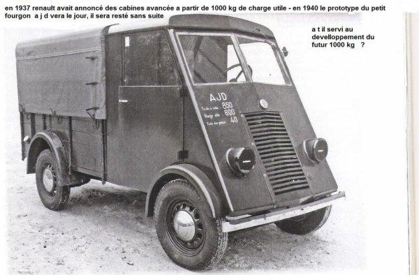 prototype du 1000 kg renault le ajd camion de france camion renault ahs ahn ahr. Black Bedroom Furniture Sets. Home Design Ideas